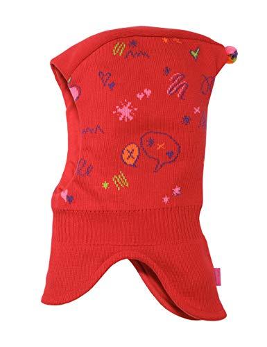 maximo baby-meisjes slipkap met krabbels muts, rood (rood 2), (fabrikantmaat: 49)