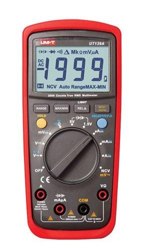 UNI-T ut-139a multímetro digital TRMS Autorange NCV, rojo