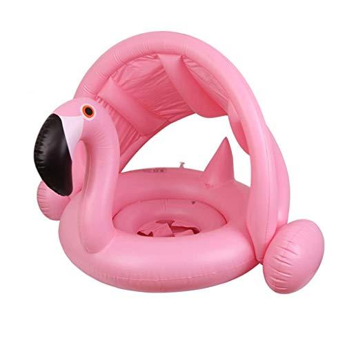 Gcxzb Schwimmreifen Bool aufblasbare Ring Schwimmen Ring kindersitz Baby Sicherheit Wasser markise Baby Schwimmen Kreis kreative personalität schwimmend (Color : Pink)