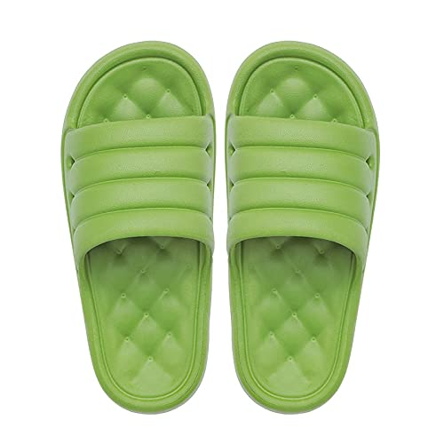 NUGKPRT ciabatte infradito,Cute Candy Color Household Slippers 3.5 cm Platform Thick Bottom Soft Non-Slip SlidesMassage Soles MenWomen Bathing Shoes 37-38 green