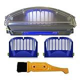 Recambios para aspiradoras Irobot Roomba 500 600 Series Aero Vac filtro de basura de polvo Aerovac Bin Collector 510 520 530 535 540 536 531 620 630 650 (color: azul)