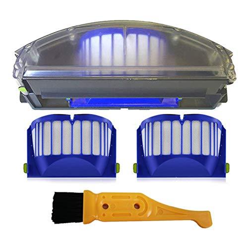 DONGYAO Nuevo ajuste para Irobot Roomba 500 600 Series Aero Vac filtro de basura aerovac colector de basura 510 520 530 535 540 536 531 620 630 650 (color: azul) para aspiradora (color: azul)