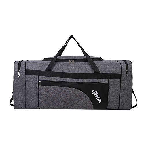 Sipobuy Bolsa De Viaje Plegable De 80L, Bolsa De Gimnasio Deportiva, Compartimento para Zapatos, Holdal, Ligera E Impermeable, De Gran Capacidad, Unisex (Grey)
