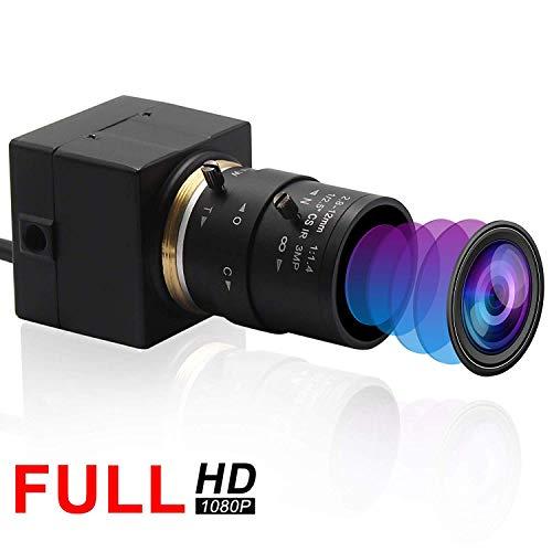 Svpro 2,0 Megapixel 2,8-12 mm Varioobjektiv USB Kamera 1080P Full HD 120fps / 60fps / 30fps USB Industriekamera, Unterstützung für IR Schnitt, Plug & Play(DESV-USBFHD01M-SFV-2.8-12mm)