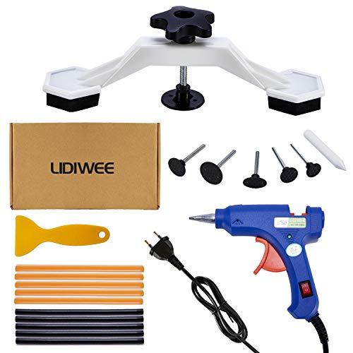 LIDIWEE Kits de Réparation de Dents, sans Peinture, Kit réparation Doutils de réparation de Bosselures pour Carrosserie et Grêle, avec Bâtons de Colle, Bleu
