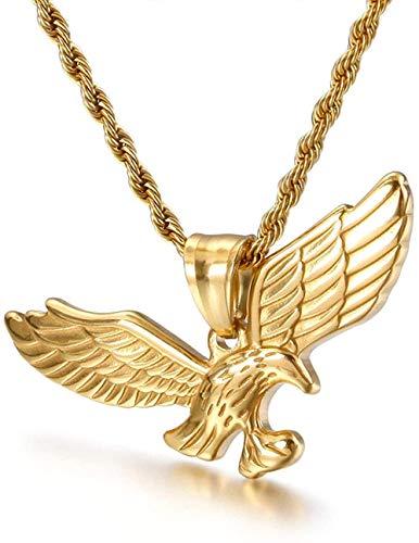 Nuevo Collar Boutique de alas de águila de Acero de Titanio Europeo y Americano, Colgante de Hip Hop, joyería de Barra de Hip Hop YUAHJIGE