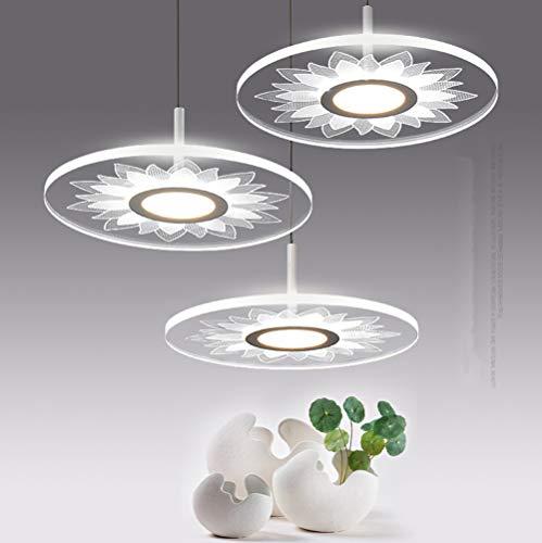 Phil lamps Lustre LED Design Acrylique Simplicité Créative Style d'art Nordique Comptoir Bar Salon du Couloir Éclairage De La Salle D'étude 30W,Whitelight,B3head