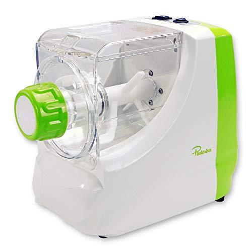Pastarixx elektrische Nudelmaschine, Maschine, Pasta, Nudelvollautomat-Küchenmaschine für selbstgemachten Nudelteig, Nudel Maker, weiß/grün, 34x24x30 cm