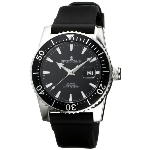 Revue Thommen Diver Professional 17030.2537 - Reloj de Caballero automático, Correa de Goma Color Negro