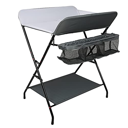 table à langer bebe, table a langer pliable, 79 * 55,5 * 96 cm, charge maximale 25 kg, pliable, fonction de stockage (YR281893_02)