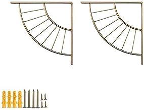 KaKaDz 2 Stks Gouden/Creatieve Plankbeugel Muurbevestiging Driehoek Beugel Metalen Plank Ondersteuning Ijzer Hardware Brac...