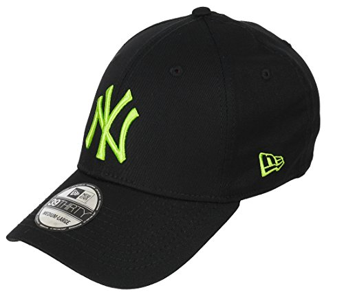 New era New York Yankees 39thirty Cap Black Base Black/Limegreen - S-M