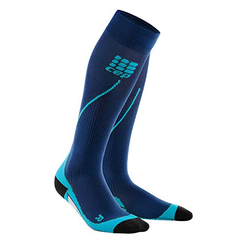 CEP Damen Strumpf Progressive+ Run Socks 2.0, Deep Ocean/Hawaii Blue, Gr. III