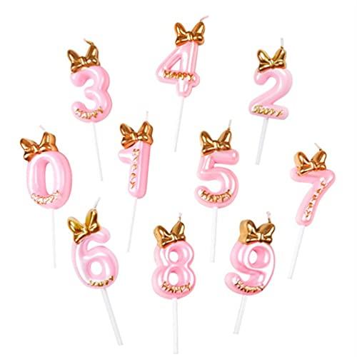 SOIMISS 10Pcs Numero Candela 0-9 Numeri di Compleanno Candele della Torta Topper Ragazza Buon Compleanno Cupcake Topper Compleanno Celebrazione Riunioni di Anniversario del Partito