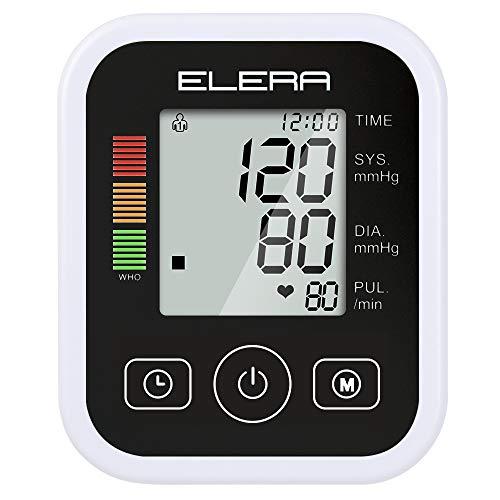 TJZY Tragbares Blutdruckmessgerät, EIN Arm nach Hause Blutdruckmessgerät Präzision, LCD-Display, eine genaue Messung, häusliche Pflege Ausrüstung Geschenk,Schwarz