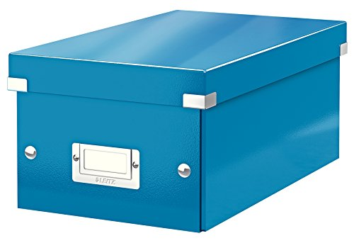 Leitz Wow Click Store 60420036 Boîte De Rangement Pour Dvd Bleu