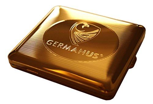 GERMANUS Zigarettenetui, Made in Germany, Mit echtem Gold vergoldet