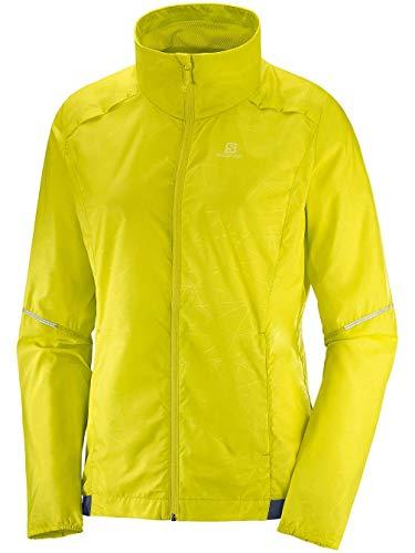 Salomon Agile Wind Jkt W Leichte Damenjacke XL gelb (Sulphur Spring)