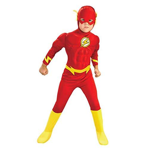 YUANY Disfraz de superhéroe con Flash Muscular para niños, Mono, Disfraz de...