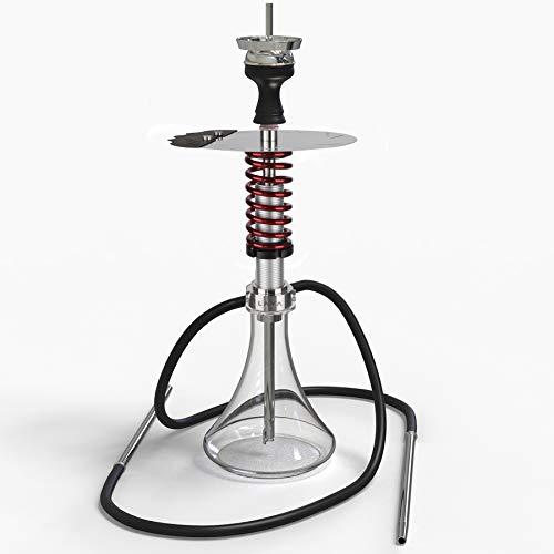 LAVA Shock Shisha Red 2 Schlauch - Edelstahl - Stoßdämpfer-Antishock Design Wasserpfeife