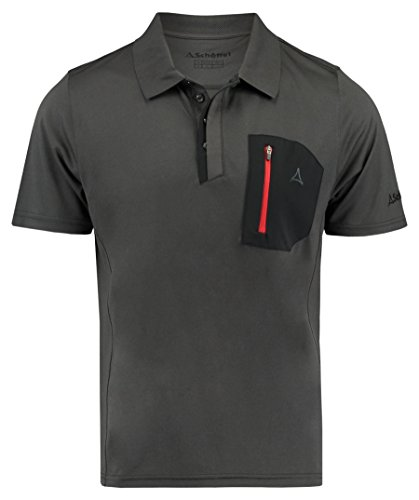 Schöffel Arizona Polo Homme, Charcoal, FR : S (Taille Fabricant : S)