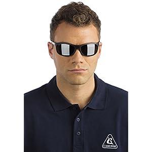 Cressi Rocker Gafas de Sol, Unisex Adulto, Negro/Lentes Reflejado Azul, Talla Única