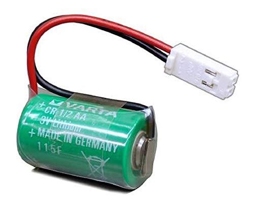 Lithium 3V Batterie CR1/2AA mit AMP-BUCHSE-928205-2P kompatibel Siemens 575332TA