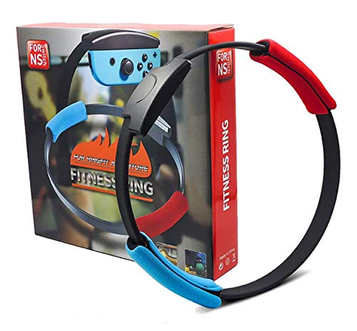 NS-Switch Yoga Fitness Ring and Elastic Leg Straps for Adventure Game, Body Sensor Sports Game, Ring fit Adventure with The Fitness Ring (Excluding Game Card)