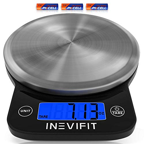INEVIFIT Digital Kitchen Scale, Highly Accurate Multifunction Food...