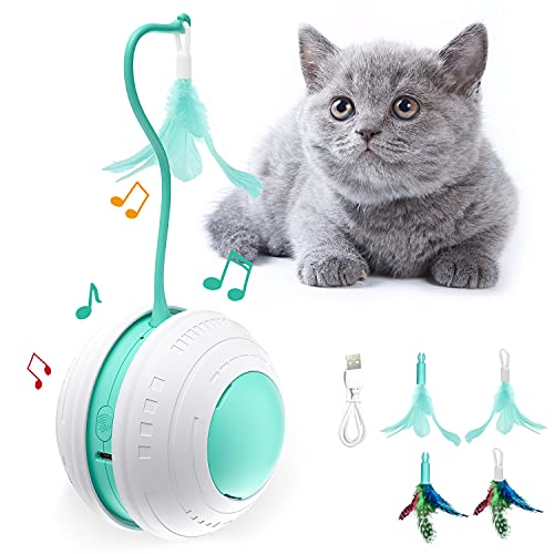 Cat Toys, Interactive cat Toys for Indoor Cats, USB Charging/ 360 Degree Self Rotating Ball/ Led...