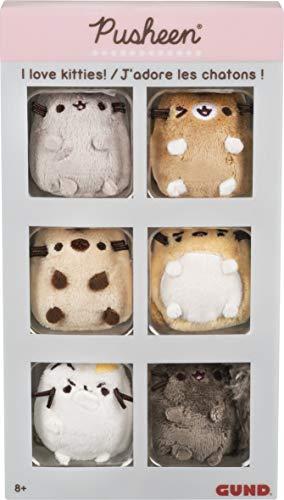 GUND Pusheen Comic Collector I Love Kitties Set of 6 Plush Stuffed Animal Cats, 2'