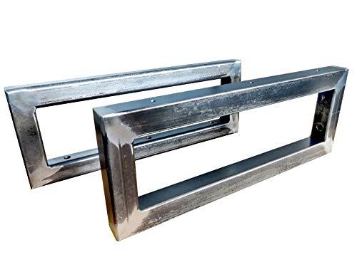 CHYRKA® Wandkonsole Schwarz Metall 30x30 Träger Regalträger Regalhalter Konsole Waschbecken (150x300 mm - 1 Paar)