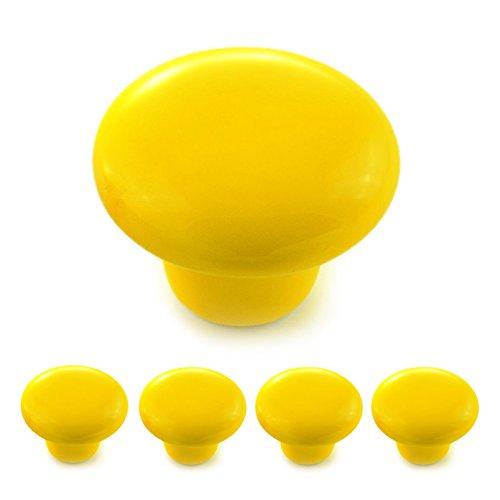 Set di pomelli per mobili, in porcellana e ceramica, maniglie per armadi, giallo