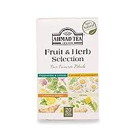 AHMAD TEA Fruit & Herb Collection - 20 teabags AHMAD TEAフルーツ&ハーブコレクション - 20ティーバッグ