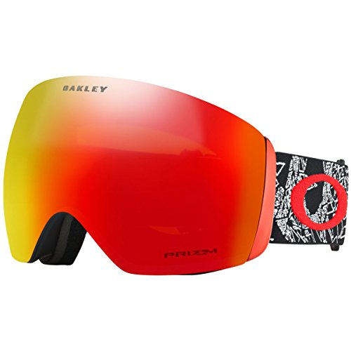 Oakley OO7050-57 Flight Deck Snow Goggles, Craneos Muertos, Large
