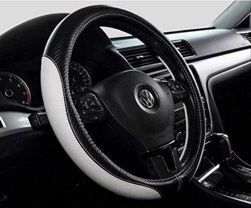 Auto Auto Lenkradbezug, Universal 15-zoll-passform, Weiches Leder, Atmungsaktiv, Rutschfest 38cm D