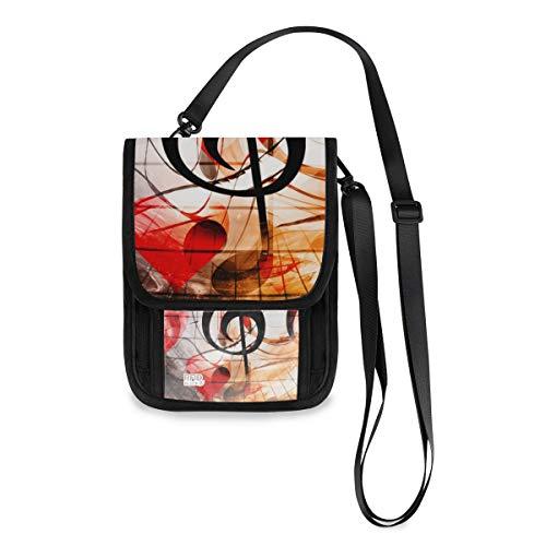XiangHeFu Meisjes Kaarthouder portemonnee Munzetui muziek Red Love Hearts Musical grote capaciteit mobiele telefoon tas portemonnee
