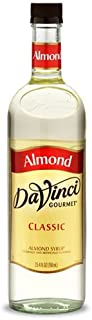 DaVinci Gourmet Classic Coffee Syrup, Almond, 25.4 Fluid Ounce (Pack of 4), Flavored Sweetener Syrup for Espresso Drinks, Tea, and Other Beverages, Suited for Home, Café, Restaurant, Coffee Shop