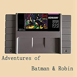 TopFor Adventures Of Batman Robin 16 Bit Big Gray Game Card For Usa Ntsc Game Player