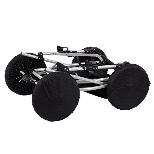 Zekiwa 803/869-03 Radschutz-Set für Kinderwagenräder Des.: Nylon schwarz