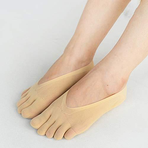 Aoliao - Calcetines ortopédicos de compresión para mujer, de corte ultrabajo y con tira de gel, transpirables