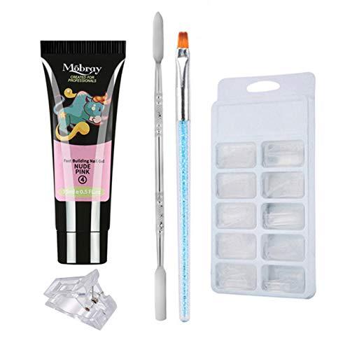 Anself Set de manicura Quick Building Gel 15ml Moldes para uñas Terapia...