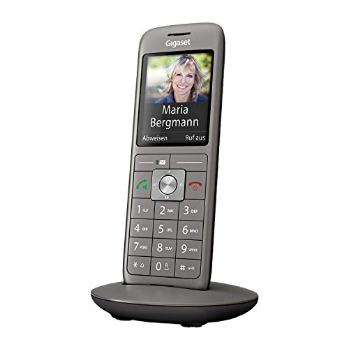 Gigaset CL660HX - DECT IP-Telefon schnurlos für den Anschluss an handelsüblichen Routern - Fritzbox, Speedport kompatibel - moderne Benutzeroberfläche - schlankes Design, anthrazit-metallic