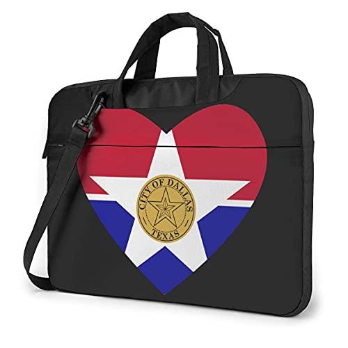 Bolsa De Hombro Para Portátil Flag Of Dallas Heart Laptop Bag Un Hombro Bolsa Para Computadora Portátil A Prueba De Golpes