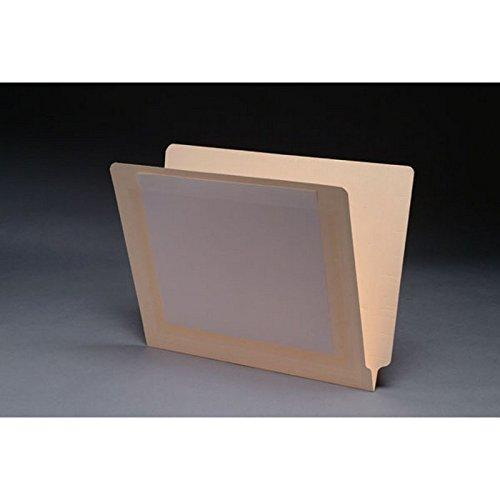 클리어 포켓이있는 11PT 마닐라 폴더 풀 컷 2 플라이 엔드 탭 레터 크기(50 상자)