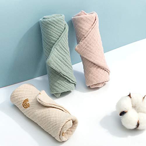 NAIXUE Lot de 5 serviettes en coton pour bébé - 4 couches de gaze de coton - Petit foulard carré, serviette de bain, mouchoir