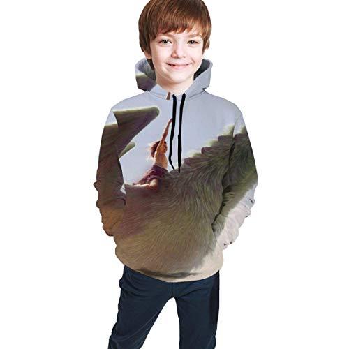 IUBBKI Pete's Dragon Hooded Sweate Sweatshirts for Boys and Girls Kids Unisex Youth Teenager-