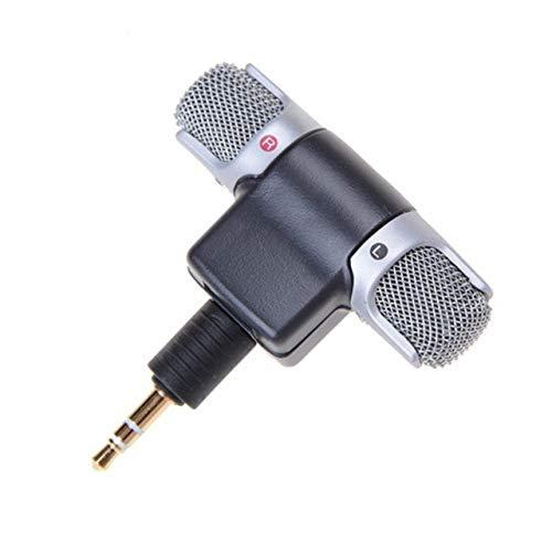 LIUCHEN micrófonoMini Micrófono Estéreo Micrófono para Grabar Teléfono Móvil Estudio Entrevista Micrófono Smartphone Portátiles, Versión para Computadora