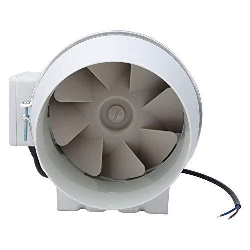 Kanaalventilator, 6 in schuine stroom, afvoerventilator, ventilator, afzuigventilatie, afvoerluchtventilator voor toilet keuken, winkelcentrum, 300 Pa 2550 tpm / 530 m3 / h (312 CFM), 110 V