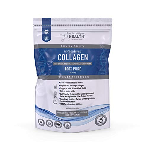 Hydrolysed Collagen Powder (Bovine) 1kg - High Protein Grass Fed Unflavoured Peptides Supplement | Helpful for Skin, Joints, Digestion & Gut Health | Gluten Free, Paleo & Keto Friendly